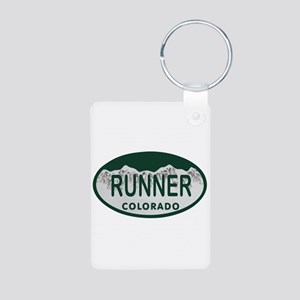 Runner Colo License Plate Aluminum Photo Keychain