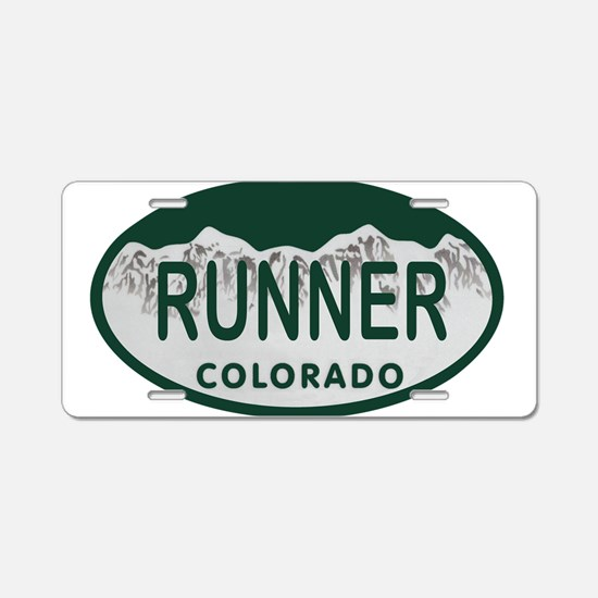 Runner Colo License Plate Aluminum License Plate