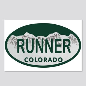 Runner Colo License Plate Postcards (Package of 8)