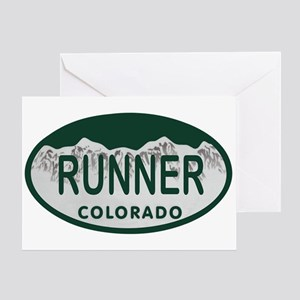 Runner Colo License Plate Greeting Card