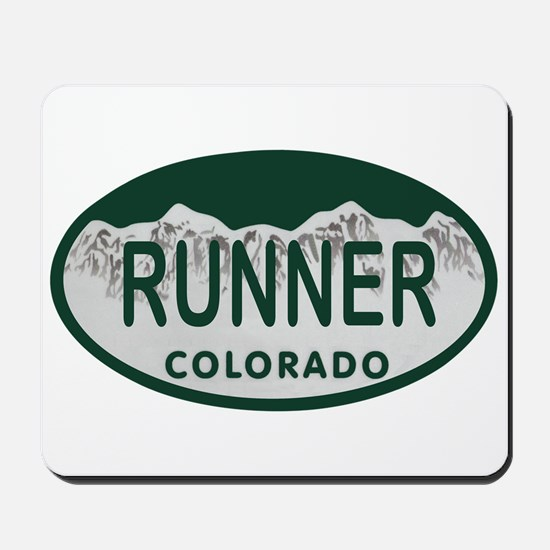 Runner Colo License Plate Mousepad
