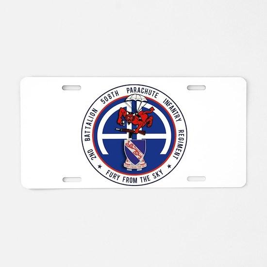 2nd / 508th PIR Aluminum License Plate