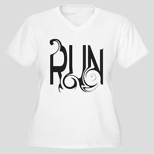 Unique RUN Women's Plus Size V-Neck T-Shirt