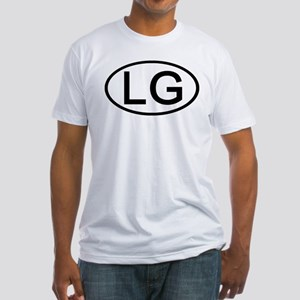 LG - Initial Oval Fitted T-Shirt