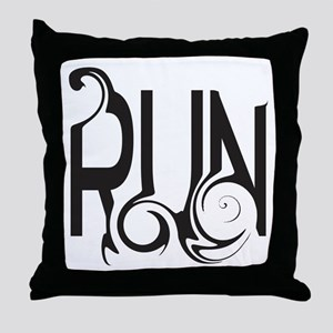 Unique RUN Throw Pillow