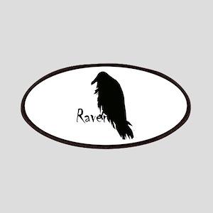 Black Raven on Raven Patches
