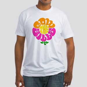 Cowsill Flower Logo Fitted T-Shirt