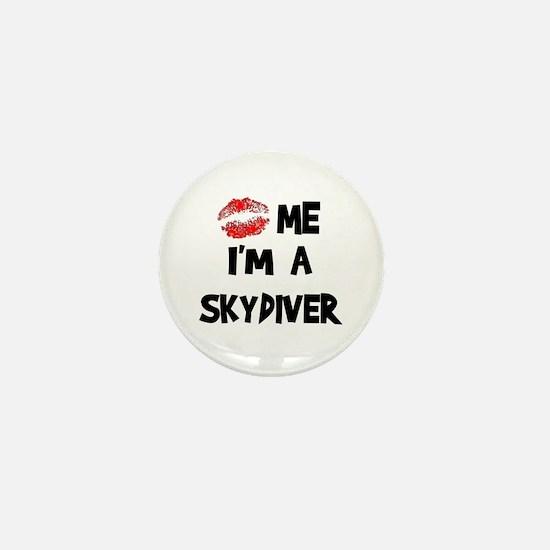 Kiss Me I'm A Skydiver Mini Button