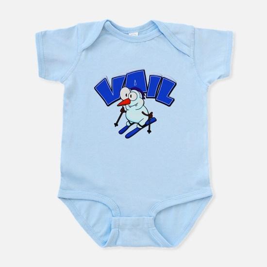 Vail Snowman Infant Bodysuit