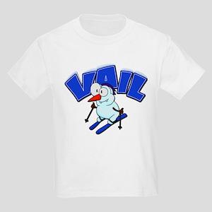 Vail Snowman Kids Light T-Shirt