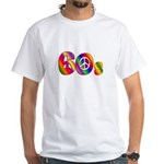 60s PEACE SIGN White T-Shirt