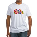 60s PEACE SIGN Fitted T-Shirt