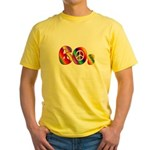 60s PEACE SIGN Yellow T-Shirt