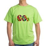 60s PEACE SIGN Green T-Shirt
