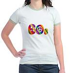 60s PEACE SIGN Jr. Ringer T-Shirt