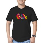 60s PEACE SIGN Men's Fitted T-Shirt (dark)