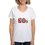 60s PEACE SIGN Women's V-Neck T-Shirt