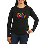 60s PEACE SIGN Women's Long Sleeve Dark T-Shirt