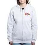 60s PEACE SIGN Women's Zip Hoodie
