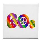60s PEACE SIGN Tile Coaster