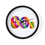 60s PEACE SIGN Wall Clock