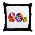 60s PEACE SIGN Throw Pillow