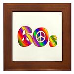 60s PEACE SIGN Framed Tile