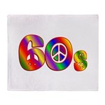 60s PEACE SIGN Throw Blanket