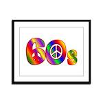 60s PEACE SIGN Framed Panel Print