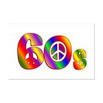 60s PEACE SIGN Mini Poster Print