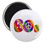 60s PEACE SIGN Magnet