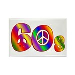 60s PEACE SIGN Rectangle Magnet