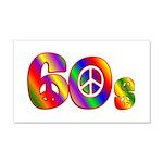 60s PEACE SIGN 22x14 Wall Peel