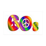 60s PEACE SIGN 38.5 x 24.5 Wall Peel