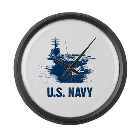 U.S. NAVY Air Craft Carrier Large Wall Clock