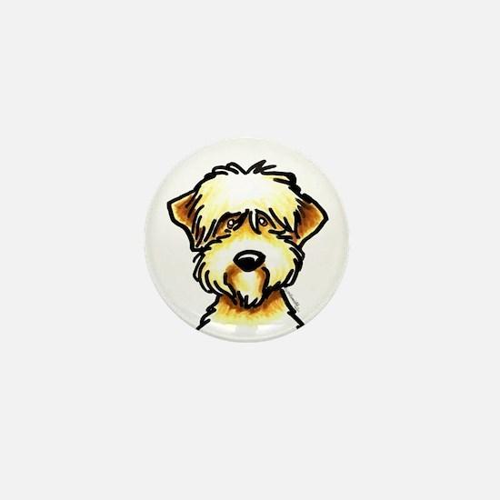 Funny Wheaten Terrier Mini Button