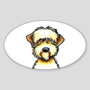 Funny Wheaten Terrier Sticker (Oval)