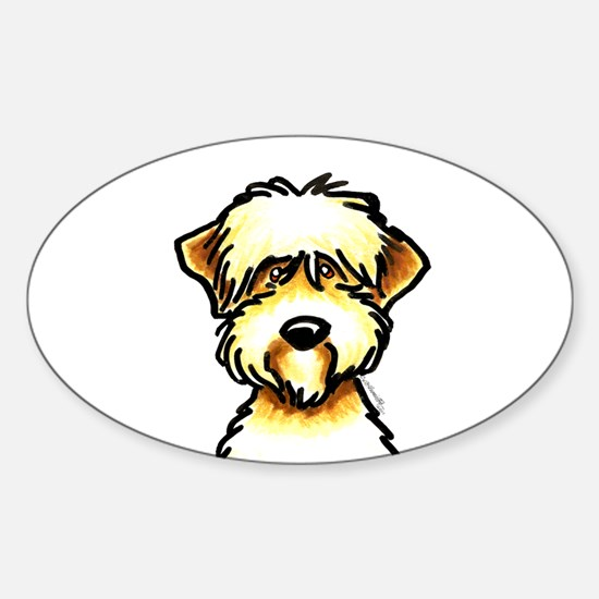Funny Wheaten Terrier Sticker (Oval)