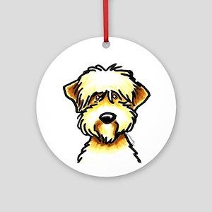 Funny Wheaten Terrier Ornament (Round)