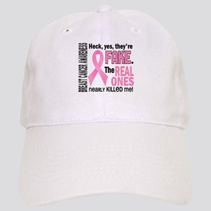 Yes They're Fake Breast Cancer Cap