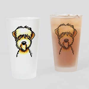 Funny Wheaten Terrier Drinking Glass