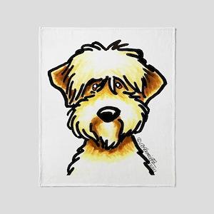 Funny Wheaten Terrier Throw Blanket