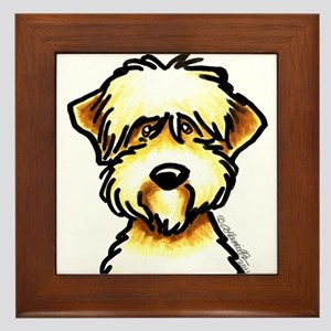 Funny Wheaten Terrier Framed Tile