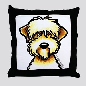 Funny Wheaten Terrier Throw Pillow