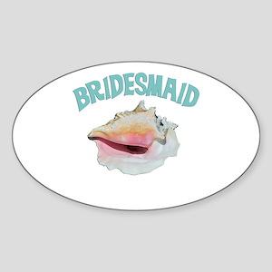 Island Bridesmaid Sticker (Oval)