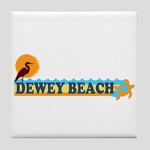 Dewey Beach DE - Beach Design Tile Coaster