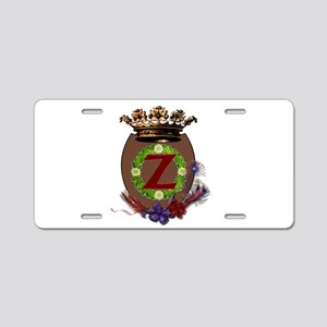 Z Crest Aluminum License Plate