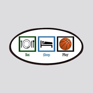 Eat Sleep Basketball Patches