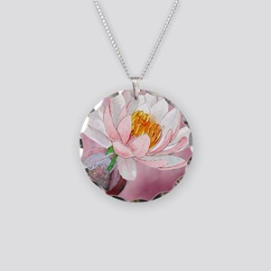 Lotus Serenity Necklace Circle Charm