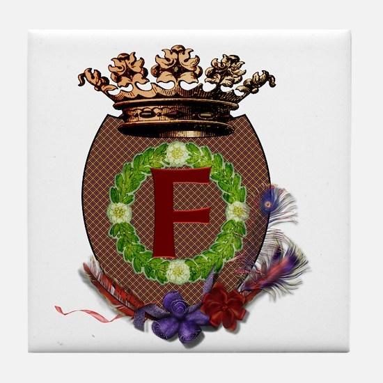 F Crest Tile Coaster